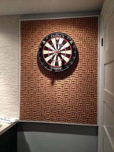 Cork board for dartboard background