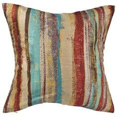 Watercolour Stripe Brights Cushion