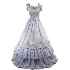 Cozy Age Women's Bowknot Square Collar Gothic Victorian Dress X-Small,White Cozy Age http://www.amazon.com/dp/B00VM787L4/ref=cm_sw_r_pi_dp_0B0jvb0661Q0A