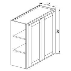 36Inch Double Door Wall Cabinet