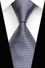 On sale for another <1m at $1.25 is this great BE0437 Gray Plaid Man Classic JACQUARD Woven Necktie Tie Casual . Follow for more great mens fashion neck ties! #mensfashion.
