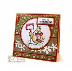 Paperesse: Christmas card with No Snow Birdbrain digital stamp