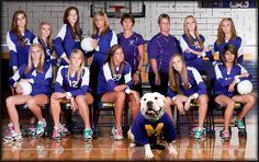Volleyball team picture idea. More serious tough expressions.