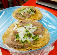 Lengua Tacos at Taqueria de Nero - Eat Local in Tulum