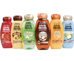 Garnier's Whole Blend Hair Line. I wanna try these when I finish up my current bottle of Shea Moisture! ~~~ 4/8/16 update: Found at my local Walmart for ~$4. Bought the coconut water + vanilla milk shampoo. It smells amazing & I was super excited but sadly it feels like it's stripping my hair when I'm shampooing. Guess I'm going back to Shea