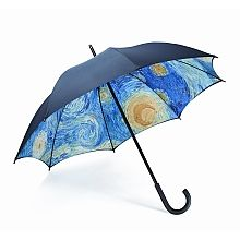 Starry Night Umbrella Blue Under My Art 50 Birthday