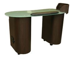 Lanier Manicure Table. Minerva. Glass work top. comes in different colors