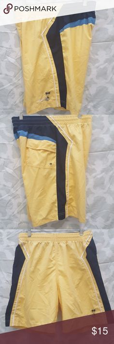 Men's Nautica swim shorts MEN'S SIZE: MEDIUM (Waist Size 31-33) SHELL: 100% NYLON LINING: 100% POLYESTER   GOOD USED CONDITION. Normal wear from wash. Small mark by design in front of short. Please see last picture. Knee length. Only has one back pocket and one small inner pocket. Also has  a drawstring. Embroided Nautica cursive spellout.   No trades. Bundle to save on shipping!  REASONABLE Offers are welcomed through offer button only. NO LOWBALLING PLEASE. Nautica Swim