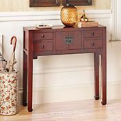 Mandarin Console Table Red