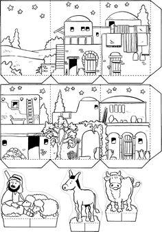 A Special Night in Bethlehem - Christmas Nativity Scene Activity for Children
