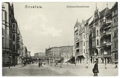 Breslau 1930 Hohenzollernstrasse Old Photographs, Travel Abroad, Beautiful Buildings, Poland, The Good Place, Louvre, Germany, Street View, Black And White