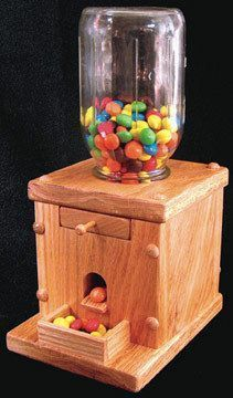 Gum Ball Machine Woodworking Plan Our small Gum Ball Machine is sure to be a big hit with kids of all ages. This fun project will be done in no time with our detailed FULL SIZE plan. Make this your ne #WoodworkingProjectsChristmas