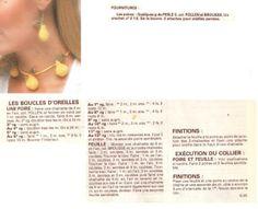[Bijoux] Le collier et les boucles d'oreille poire - La Boutique du Tricot et des Loisirs Créatifs