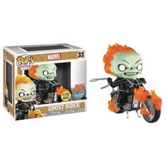Funko Ghost Rider GITD 33, Glow in the Dark, Marvel, Motoqueiro Fantasma, PX Exclusive, Funkomania