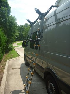 Telescoping ladder instead of attached. This would allow more uses for the ladder on and off the van.