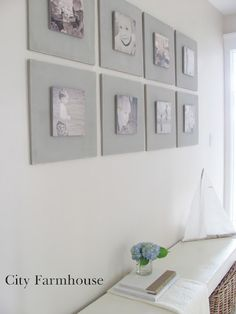 DIY Gallery Wall Tutorial for under 40-.Used MDF  French Linen Chalk Paint. #gallery wall #chalk paint