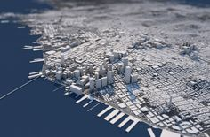 """""""A city's appeal is often hidden in its basic structure. These unique three-dimensional city maps show the topography, architecture and street network of a city from an entirely new perspective. A perfect mix of information and visual fascination. City Architecture, Futuristic Architecture, Monochrome, Urban Design Concept, City Layout, City Sketch, City Drawing, City Model, Urban Fabric"""
