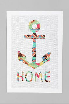 Bianca Green For Society6 You Make Me Home Art Print, could DIY this with a template, cutting board and the scalloped fabric from my 21st..