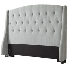 Slate Gray Roma Tufted Wingback Headboard | Queen | Target | Spare Bedroom | Yellow and Gray
