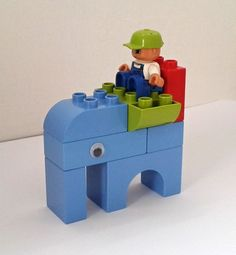 Lego Duplo Small Elephant Lego Duplo Games, Lego Duplo Animals, Lego Activities, Lego Ninjago, Toddler Activities, Lego Basic, Lego Club, Lego Table Ikea, Lego Therapy