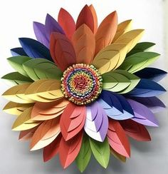 Rainbow Paper Flower Wall Décor, Table Centrepiece, LGBT Rainbow - Wedding and Event Backdrops by Paper Flower Company - Rainbow Flowers, Giant Paper Flowers, Diy Flowers, Paper Flower Wall, Paper Flower Backdrop, Flower Wall Decor, Origami Paper Art, Paper Crafts, Paper Paper
