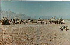M60A1 RISE Passive loaing onto tank transport. Dona Anna New Mexico 1985.