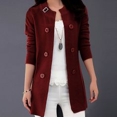 Lady Like Knit Coat, Burgundy, 55.7% discount @ PatPat Mom Baby Shopping App