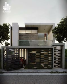 Modern House Gates and Fences Luxury 37 Spectacular Gate Design Ideas that You Can Copy Right now House Main Gates Design, Front Gate Design, Home Stairs Design, Door Gate Design, Fence Design, Gate Designs Modern, Modern House Design, Modern Entrance, Entrance Gates