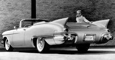It's easy to smile when you're driving a 1957 Cadillac Eldorado Biarritz.