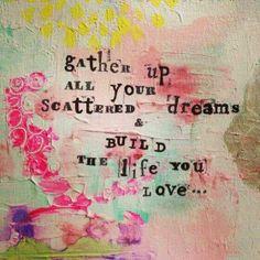 Dream big! Artwork by #catinajanegraystudio #catinajanegray