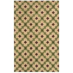 Rizzy Home Green Runner Rug In Wool 2'6 inch x 8'