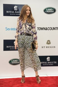 Olivia Palermo in Prints Over Prints Spring Summer look #fashion