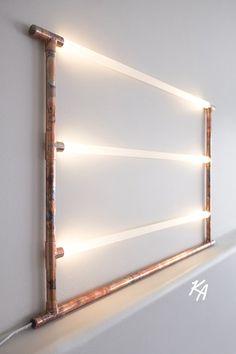 Copper Pipe Lamp LED LED Lamp Copper Lamp Pipe Lamp von AKLighting