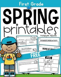 FREE Spring Printables - Math and Literacy Inside you will find a fun variety of spring theme Literacy Activities, Literacy Centers, Art Journal Pages, Homeschool Worksheets, Homeschooling, Kindergarten Lesson Plans, Kindergarten Curriculum, Spring School, Free Teaching Resources