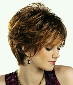 Beautiful Auburn Capless Wavy Synthetic Short Wigs are great style and high quality. Buy Short Wigs at our online store. Short Hair Styles For Round Faces, Short Hair Cuts For Women, Curly Hair Styles, Natural Hair Styles, Short Shag Hairstyles, Short Hairstyles For Women, Wig Hairstyles, Medium Hairstyles, Pixie Haircuts