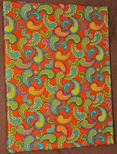 11x14 Funky Fabric Wall Picture by AquaXpressions on Etsy, $15.00