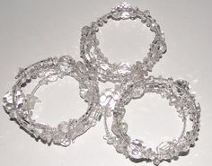 Crystal and quartz memory wire bangles.  https://www.facebook.com/NVJewelry