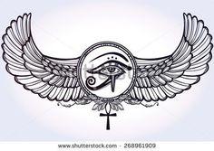 stock-vector-hand-drawn-vintage-tattoo-art-vector-illustration-tribal-symbol-of-pharaoh-element-of-ancient-268961909.jpg (450×320)