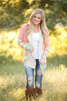 """Neon Lights Cardigan from Closet Candy Boutique - Promo code """"repashley"""" for 10%OFF+FREE shipping!"""