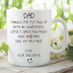 Funny Birthday Mug Gift Dad Fathers Day Birthday Present Rude Mugs, Funny Mugs, Birthday Mug, Funny Birthday, Lesbian Gifts, Wedding Mugs, Family Presents, Valentines Mugs, Couple Mugs