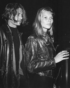 KATE MOSS + JOHNNY DEPP | LEATHER JACKET LOVE - Le Fashion