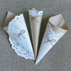 Paper Doily Crafts, Doilies Crafts, Paper Doilies, Paper Flowers Diy, Wedding Crafts, Wedding Decorations, Confetti Cones, Bouquet Wrap, Valentines