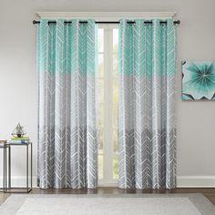 Adel Chevron Max Blackout Grommet Single Curtain Panel