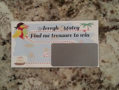 20 Pirate Scratch Off Tickets by msmemories101 on Etsy