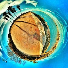 Use apps to enhance photos. This app called 360 Panorama gives your photos an entirely different perspective.
