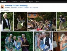 Using a Flickr group to collect wedding guests' photos.
