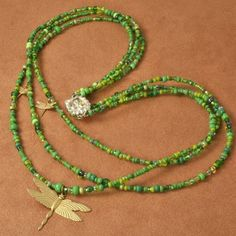 Garden Seed  Green Necklace with by RoseofSharonJewelry on Etsy, $22.99