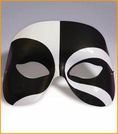 Harlequin Eye Mask Black/White Eyemask