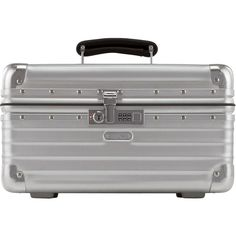 Rimowa North America Classic Flight Beauty Case (2.510 BRL) ❤ liked on Polyvore featuring home, home decor, silver and rimowa