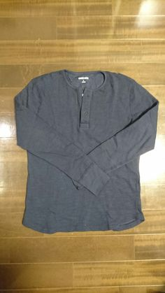 Three Dots, Long Sleeve Henley Neck, BN285MY, 24,000JPY+tax?, Color: Night Iris, Size: M #ThreeDots